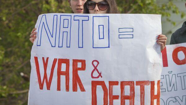 Protesty przeciwko NATO w Mołdawii, maj 2016 - Sputnik Polska