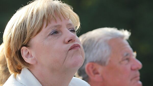 Kancelerz Niemiec Angela Merkel z prezydentem Niemiec Joachimem Gauckiem - Sputnik Polska