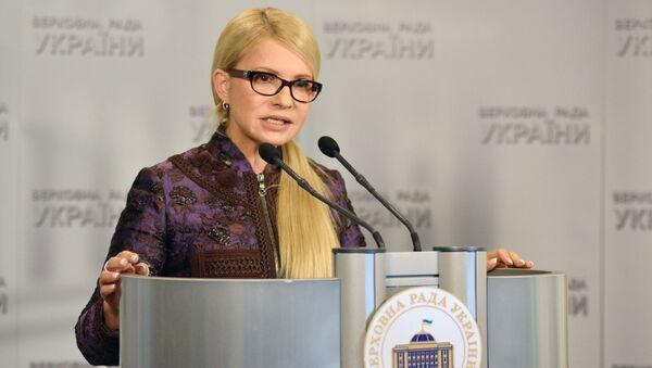 Liderka frakcji Batkiwszczyna Julia Tymoszenko na posiedzeniu Rady Najwyższej Ukrainy w Kijowie - Sputnik Polska