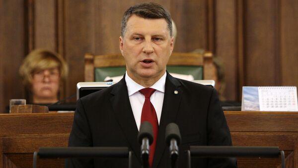 Prezydent Łotwy Raimonds Vējonis - Sputnik Polska