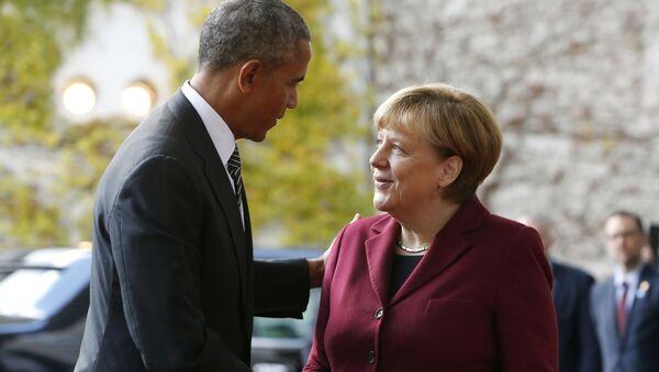 Prezydent USA Barack Obama i kanclerz Niemiec Angela Merkel - Sputnik Polska