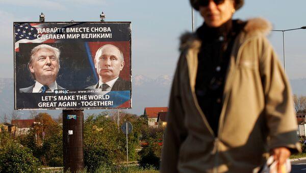 W trakcie kampanii wyborczej Donald Trump obiecywał znaczne ocieplenie stosunków z Kremlem - Sputnik Polska