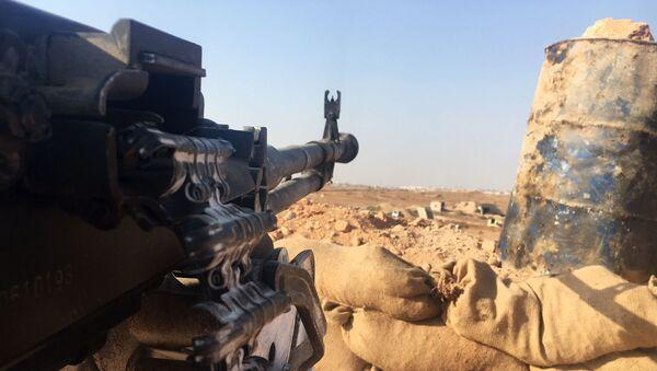 Wczoraj syryjska armia przez cały dzień ostrzeliwała pozycje terrorystów w Masaken Hanano - Sputnik Polska