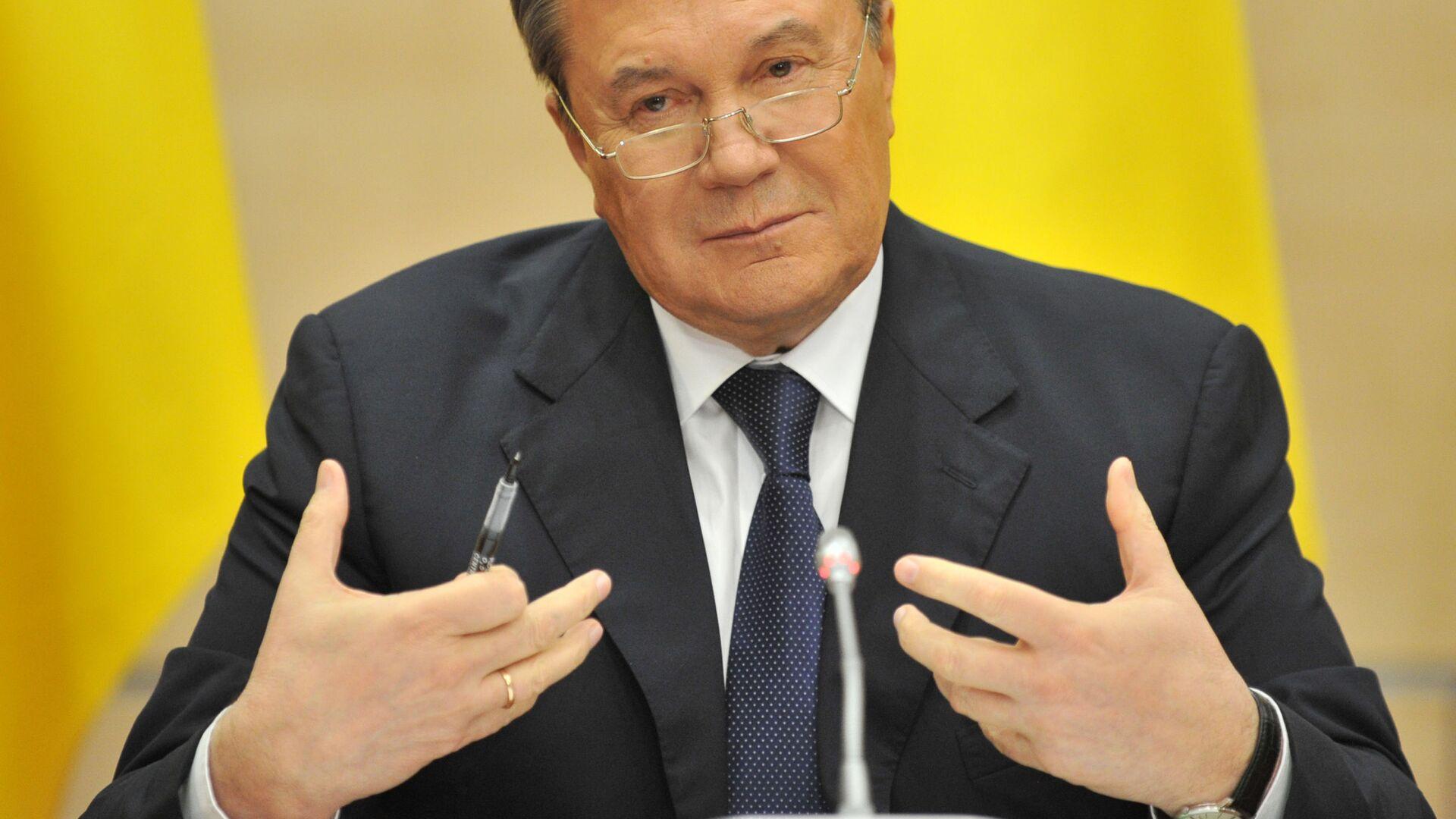 Były prezydent Ukrainy Wiktor Janukowycz  - Sputnik Polska, 1920, 07.10.2021