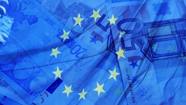 Flaga i waluta UE - Sputnik Polska