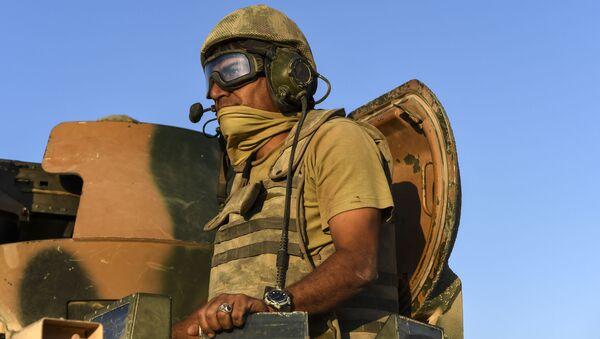 """24 sierpnia turecka armia rozpoczęła operację o kryptonimie """"Tarcza Eufratu. - Sputnik Polska"""