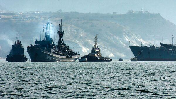 Okręty rosyjskiej Floty Czarnomorskiej w Sewastopolu - Sputnik Polska
