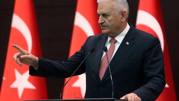 Premier Turcji Binali Yildirim w Pałacu Çankaya w Ankarze - Sputnik Polska