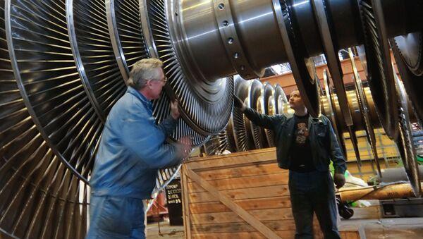 Proces produkcji turbiny w fabryce Siłowyje Maszyny - Sputnik Polska