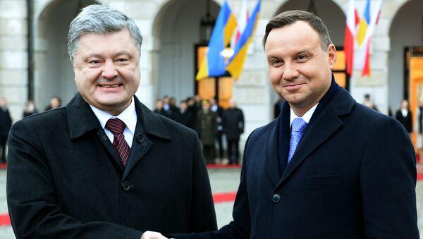 Andrzej Duda i Piotr Poroszenko - Sputnik Polska