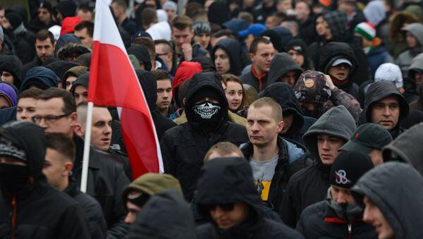Akcja protestacyjna przeciwko islamizacji Europy - Sputnik Polska