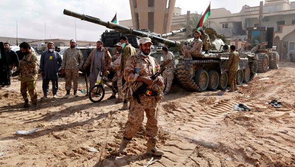 Libijscy wojskowi w libijskiej Syrcie - Sputnik Polska