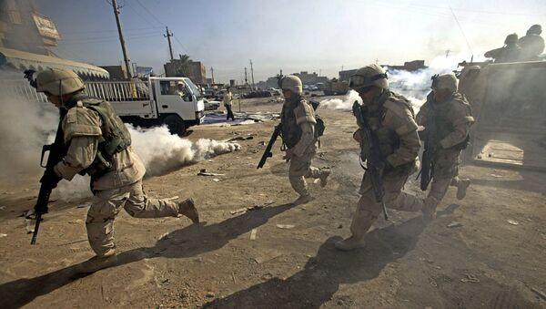 Amerykańscy żołnierze podczas operacji wojskowej w Iraku - Sputnik Polska