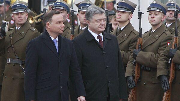 Prezydent Polski Andrzej Duda i prezydent Ukrainy Petro Poroszenko w Warszawie, 2 grudnia 2016 - Sputnik Polska