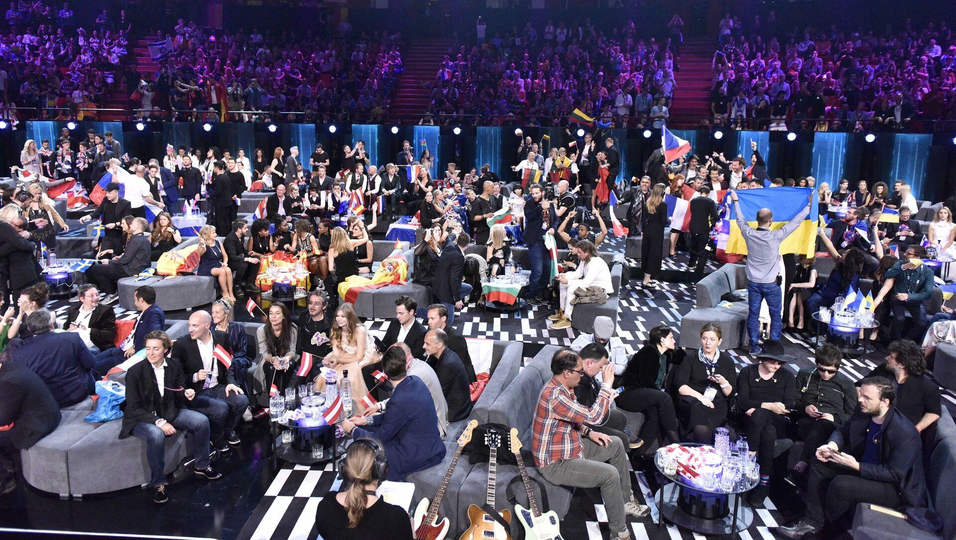 Głosowanie podczas finału Eurowizji w Sztokholmie, Szwecja - Sputnik Polska, 1920, 12.03.2021
