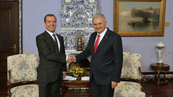 Spotkanie premierów Rosji i Turcji w rezydencji Gorki za Moskwą - Sputnik Polska