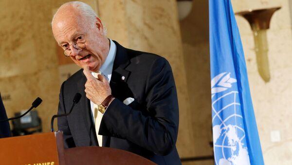 Specjalny wysłannik ONZ w Syrii Staffan de Mistura - Sputnik Polska