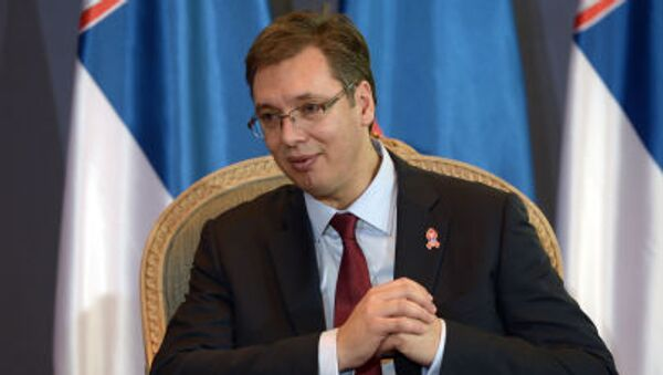 Premier Serbii Aleksandar Vučić - Sputnik Polska