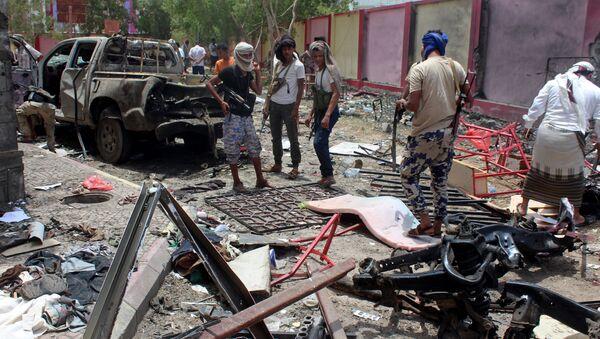 Aden. Jemen. Zamach z użyciem samochodu-pułapki - Sputnik Polska