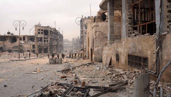 Zniszczone wojną Aleppo - Sputnik Polska