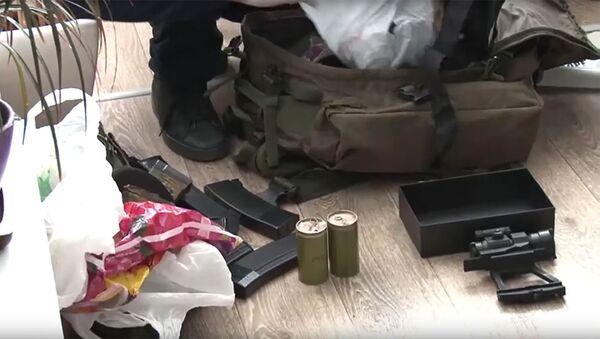 Amunicja skonfiskowana u zatrzymanych w Sewastopolu dywersantów - Sputnik Polska