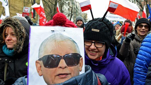 Demonstracja w Warszawie, 18.12.2016. - Sputnik Polska