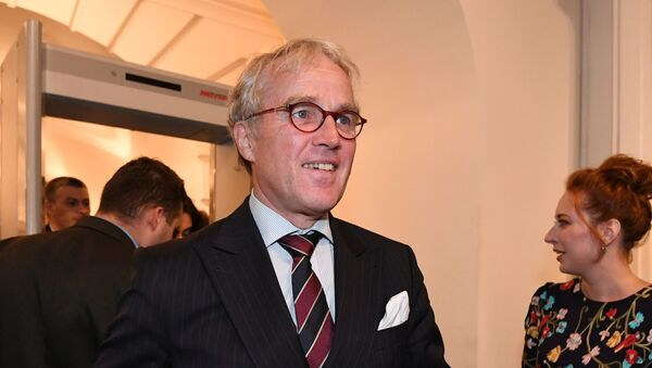 """Ambasador Niemiec w Rosji Rudiger von Fritsch w restauracji """"Galeria Artysty"""" w Moskwie - Sputnik Polska"""