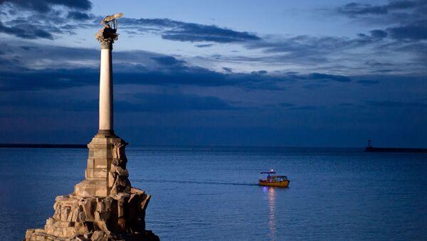 Pomnik zatopionych okrętów w Sewastopolu - Sputnik Polska