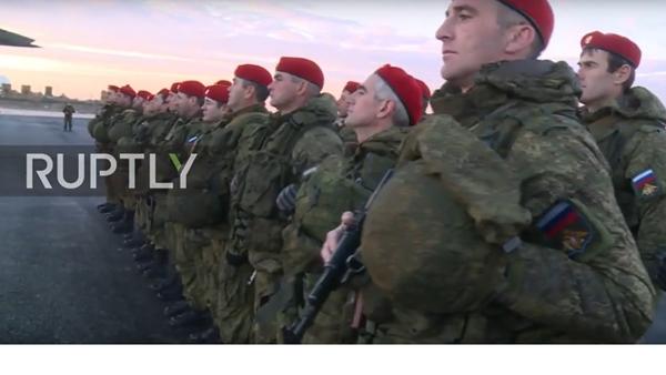 """Rosyjskie """"Czerwone Berety będą strzec bezpieczeństwa w Aleppo - Sputnik Polska"""