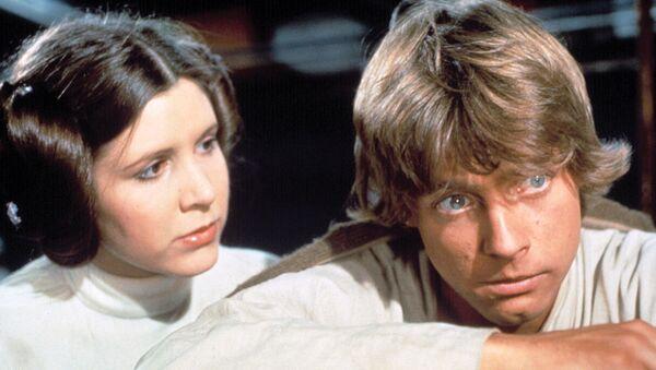 Star Wars actors Carrie Fisher, Mark Hamill, 1977 - Sputnik Polska