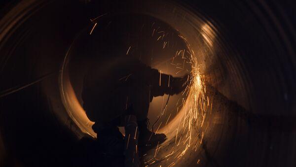 Schweißarbeiten an einer Gas-Pipeline des russischen Gaskonzerns Gazprom - Sputnik Polska