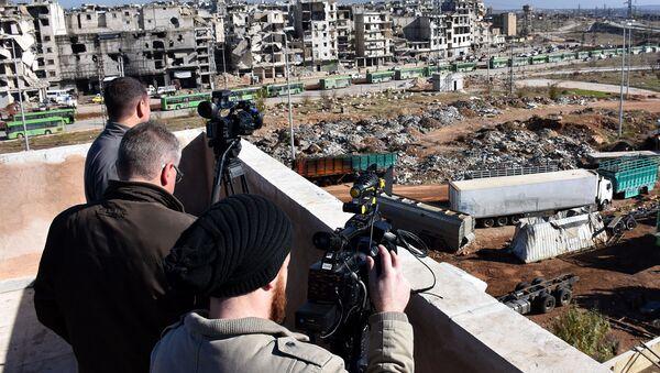 Dziennikarze w syryjskim Aleppo - Sputnik Polska