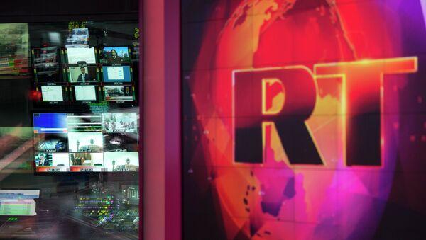 Logo telewizji RT - Sputnik Polska