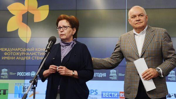 Ceremonia wręczenia nagród zwycięzcom Międzynarodowego Konkursu Fotografii Prasowej im. Andrieja Stienina - Sputnik Polska