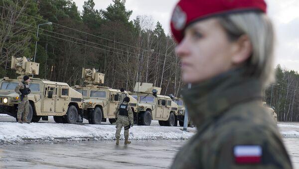 Powitanie amerykańskich wojsk w Polsce, Olszyna, 12 stycznia 2017 - Sputnik Polska