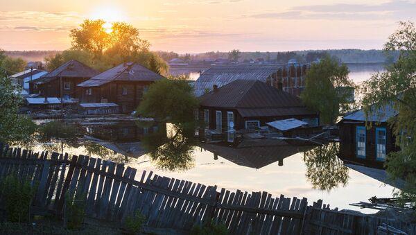 Powodzie, obwód omski - Sputnik Polska