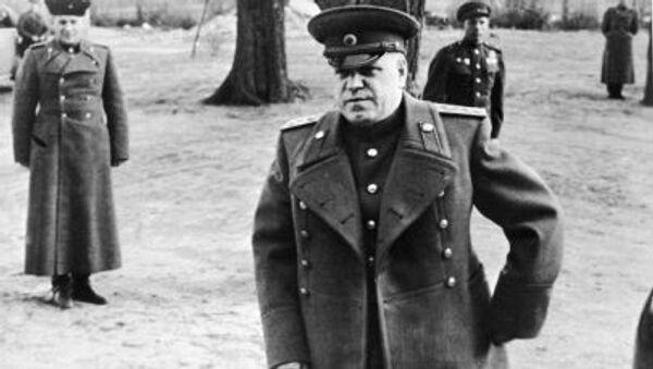 Dowódca 1. Frontu Białoruskiego, marszałek Georgij Żukow - Sputnik Polska