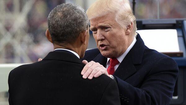 Donald Trump i Barack Obama - Sputnik Polska