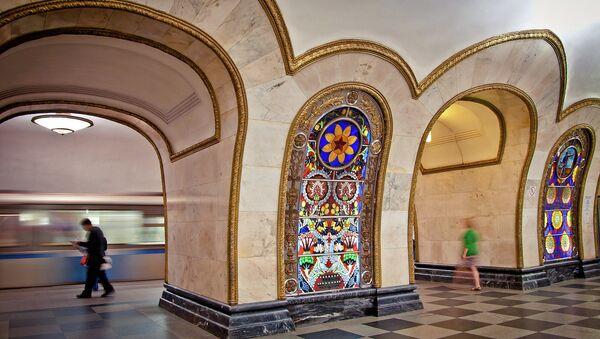 Stacja moskiewskiego metra Novoslobodskaya - Sputnik Polska