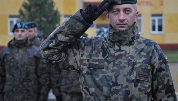 Polscy żołnierze na wspólnych ćwiczeniach z Ukrainą - Sputnik Polska