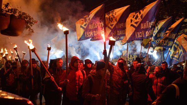 Marsz zwolenników UPA na Ukrainie - Sputnik Polska
