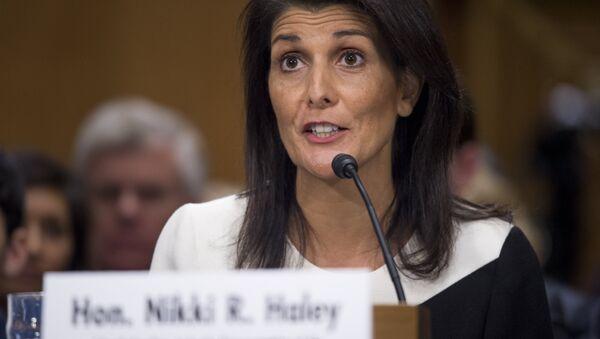 Nikki Haley, ambasador USA przy ONZ - Sputnik Polska