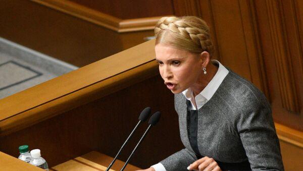 Lider partii Batkiwszczyna Julia Tymoszenko - Sputnik Polska