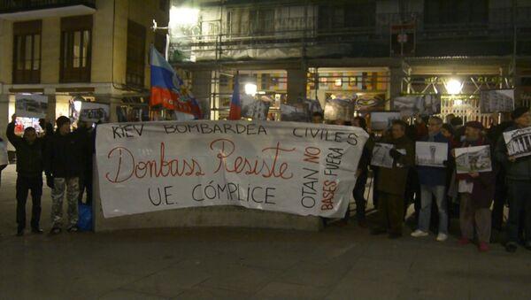 Demonstracja w Madrycie - Sputnik Polska