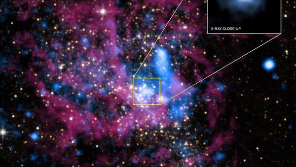 Sagittarius A to czarna dziura w centrum galaktyki Droga Mleczna - Sputnik Polska