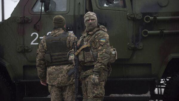 Ukraińscy żołnierze w Awdijiwce - Sputnik Polska