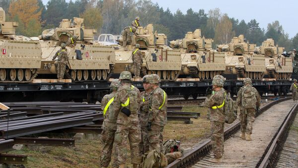 Amerykańscy żołnierze w bazie Rukla, Litwa - Sputnik Polska