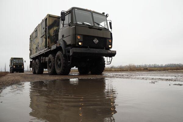 Jednostka dowodzenia i łączności południowego okręgu wojskowego - Sputnik Polska