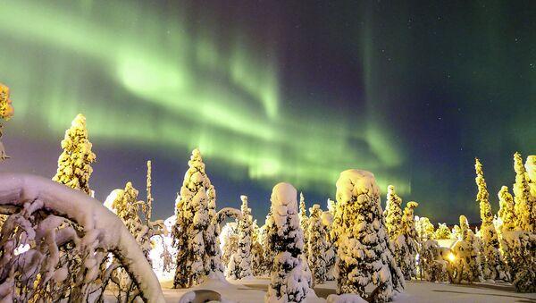 Zorza polarna w Finlandii - Sputnik Polska