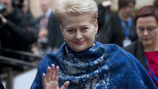 Prezydent Litwy Dalia Grybauskaitė - Sputnik Polska